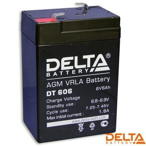Аккумулятор 6V/6AH DT606 70х48х100 Delta