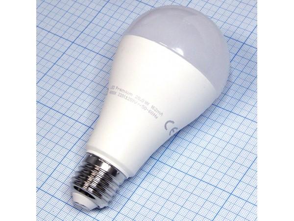 Лампа 220V 20W E27 с/д4000k Ecola А65