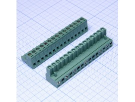 2ESDV-15 клеммник15к. на плату угловой