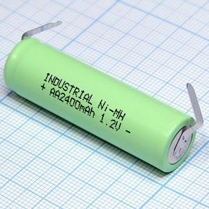Аккумулятор 1,2V/2400 (d=14;L=48) NiMH с лент. выводами