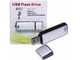 Диктофон 8GB  с USB-флеш-накопителем