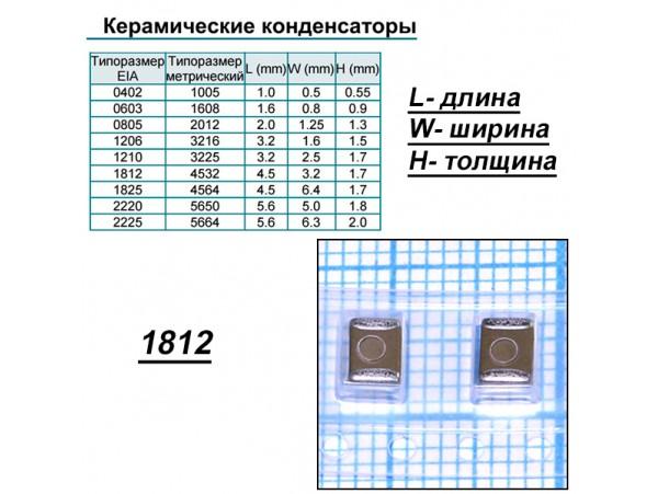 Конд.1812 2,2µF 100V  X7R ЧИП