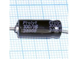 Конд.100/16V(аксиал)