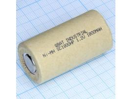 Аккумулятор 1,2V/1800 (d=23;L=43) NiCd D-SC1800HP