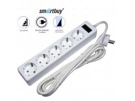 Фильтр сетевой 5 роз. Smartbuy 10А с выкл. 5м