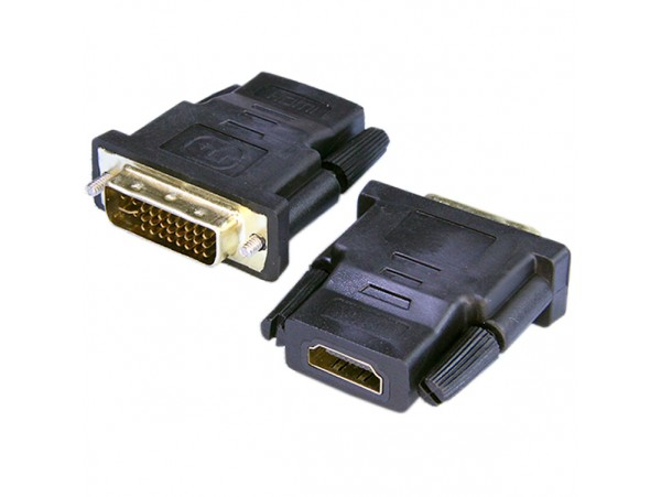 Переходник DVI-D штекер < HDMI гнездо