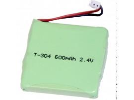 Аккумулятор 2,4V/600 NiMH T304 35*33*5