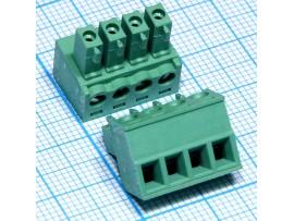 EC381V-04 клеммник 4к шаг 3,8мм XY2500F-C-4