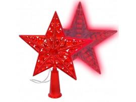 Звезда на елку Космос красные светодиоды шнур 2м
