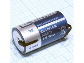 ER34615M-FT батарея 3,6V D Lithium EEMB