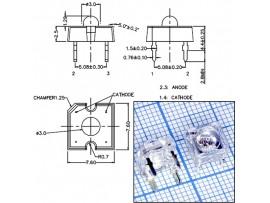 LED CP41B-RDS-CL0P0EE4 красн. 7,6*7,6мм