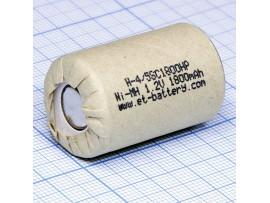 Аккумулятор 1,2V/1800 4/5SC (d=23;L=34) NIMH