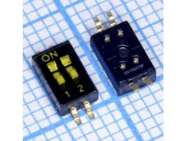 HDS-02 переключатель SMD DIP шаг 1,27мм