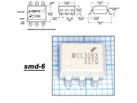 MOC3063SR2M Оптопара  SMD
