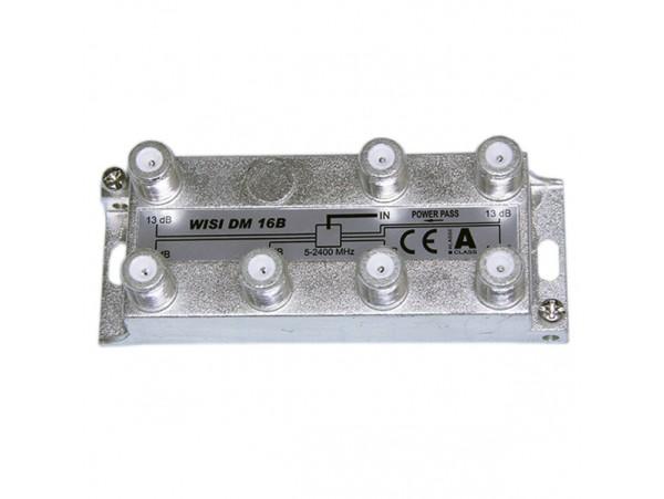 Разветвитель WISI  DM16B  (5-2400mHz) 6*13 дБ