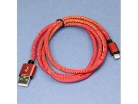 USBА шт. - 8pin шт.iphone 5-10 1 м, тканевый красный