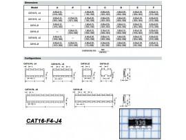 CAT16-330J4 33 Ом сборка резисторная