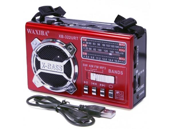 Приемник Waxiba XB-322URT (FM/СВ/КВ) поддержка MP3