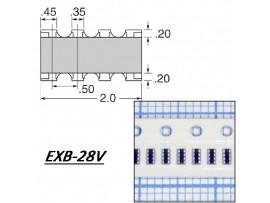 EXB-28V331JX (28х330 Ом±5%) Сборка рез.