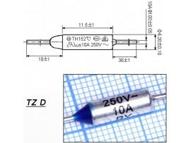 TZ D-125-10A Термопредохранитель