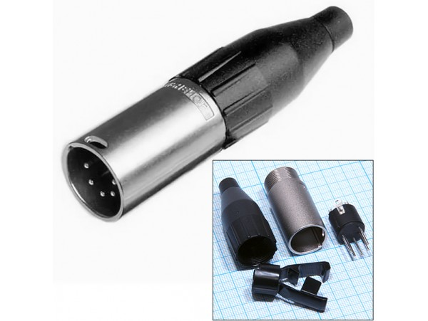 AC5M Вилка 5к.на кабель.Amphenol (XLR5)
