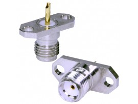 SMA-BJ1 гн. на прибор пайка 2 винта (CH-7815)