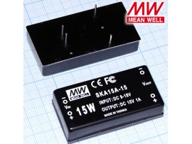 SKA15A-15 (9V-18V>±15V/1,0A) Преображатель напряжения