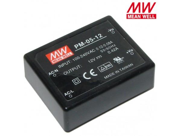 PM-05-12 Преобразователь напряжения ~220V>12V(0,42A)