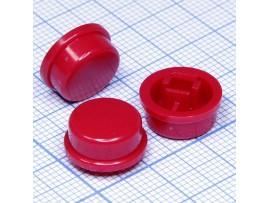 SWT-9R-R Колпачок круглый для тактовой кнопки (красный)