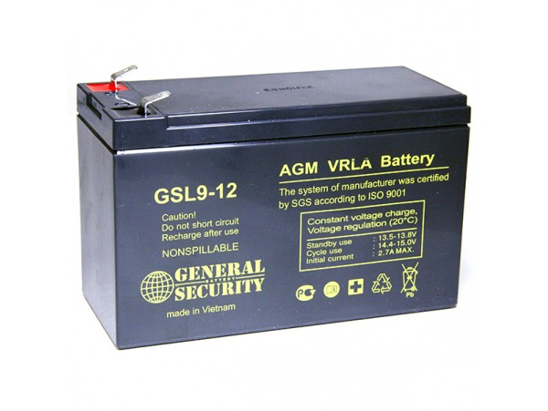 Аккумулятор 12V/9.0Ah GSL9-12 (151х65х94мм)