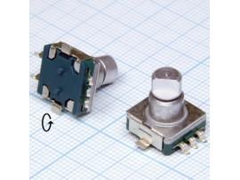 Энкодер EC11-9,5F-S 5pin металл ручка 17мм спил