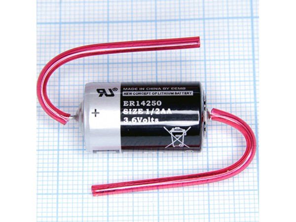 ER14250-AX 3.6V [AA1/2] Батарея с выводами