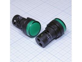 AD16-22D/S LED лампа зеленая 12V