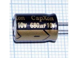 Конд.680/10V 0813 +105°C