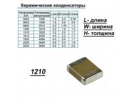Конд.1210 10µF 50V Y5V ЧИП