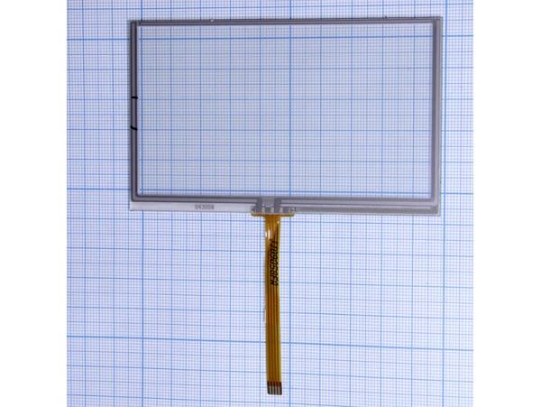 Тачскрин 63х103 шлейф снизу, по центру, 60 мм (4,3