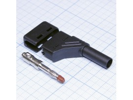 934 098-100 штекер уголковый чёрн.