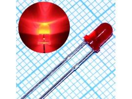 LED BL-B51V1 R кр.d=3 80мКд
