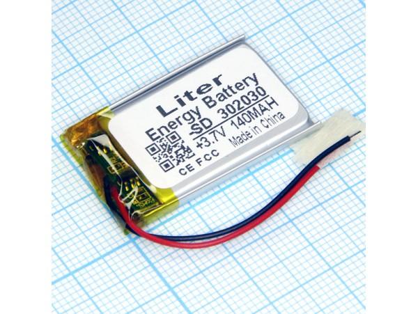 LP302030-PCM-LD Аккумулятор 3.7V/130mAh  Li-POL