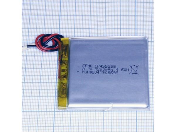 LP455255-PCM-LD Аккумулятор 3.7V 1250mAh  Li-pol