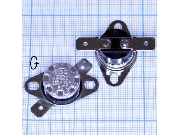KSD-301-060C 250V10A NO термостат нормально разомкнутый
