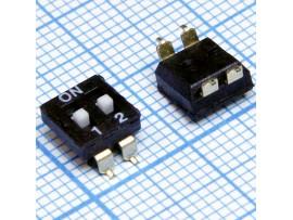 DM-02-V переключатель SMD DIP (SWD4-2, DMHA-02G-G)