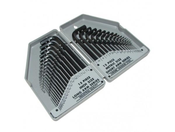 8PK-027 набор ключей 30пр. шестигранные