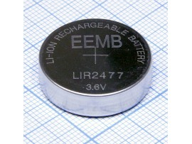 LIR2477 Аккумулятор 3,6V