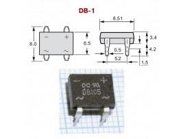 DB105  (600V/1A) Диодный мост