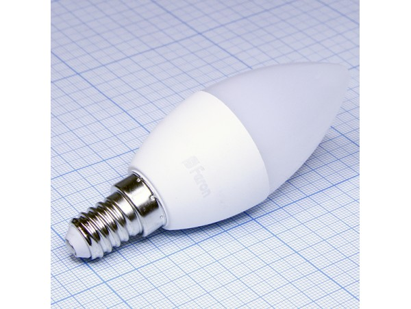 Лампа 220V 7W E14 св/д свеча 4000k Ecola