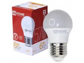 Лампа 220V 5W E27 св/д теплый белый 3000k ASD