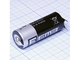 ER18505-VB 3.6V бат.3,6V Lithium с пластинчатыми вывод.