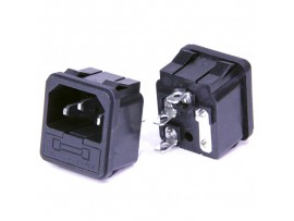 AC-003 вилка сетевая предохранитель/прибор/защёлка