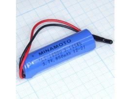 LIR14500-LD Акк. 3,7V/750m Li-Ion, выводы - провод